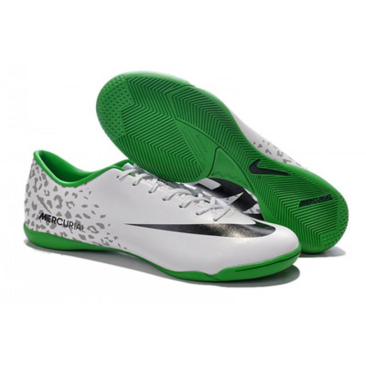 Футзалки Nike mercuria, белый с зеленым
